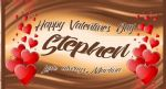 Galaxy Bar theme Valentine's Day Bar Wrapper